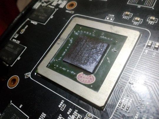 Samar pada GPU tertulis kode GF106