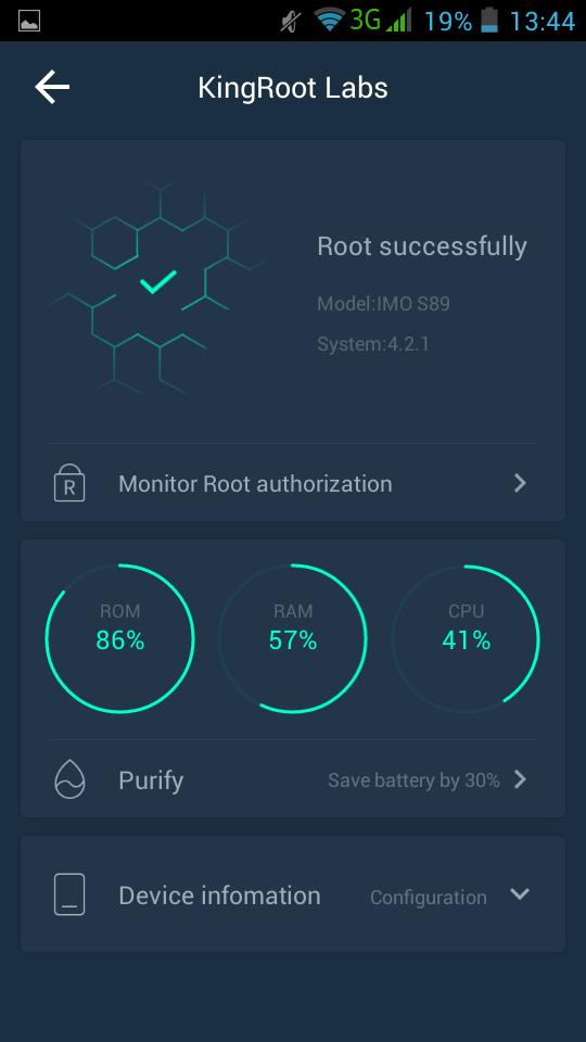 Root sukses !