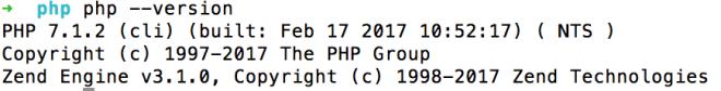 PHP 7.1 sudah terinstall
