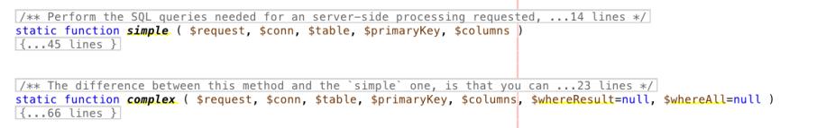Static method complex & simple